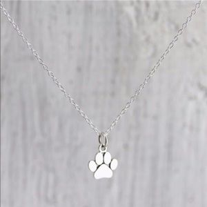 Paw Necklace-Solver Toned
